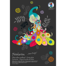 Fotokarton-Block, Mini-Designs, 300 g/qm, ca. 23 x 33 cm, 40 Blatt Sortiert
