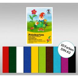 Fotokartonblock DIN A3 - 10 Blatt sortiert