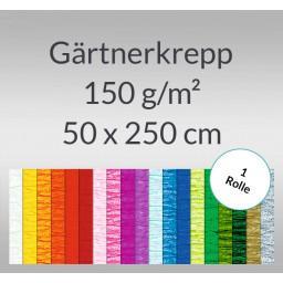 Gärtnerkrepp 150 g/qm (Floristenkrepp) 50 cm x 2,5 m - 1 Rolle
