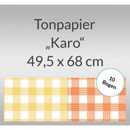 Karo-Tonzeichenpapier 130 g/qm 49,5 x 68 cm - 10 Bogen