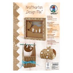 "Kraftkarton ""Design Mix"" DIN A4 - 10 Blatt"
