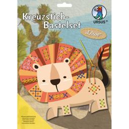 Kreuzstich-Bastelset Löwe