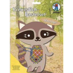 Kreuzstich-Bastelset Waschbär