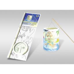 Laternen-Bastelset 16 mit Transparentpapier zum Ausmalen