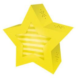 Laternen-Bastelset Twinkle Star, gelb