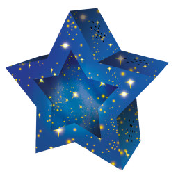Laternen-Bastelset Twinkle Star, Sternenhimmel