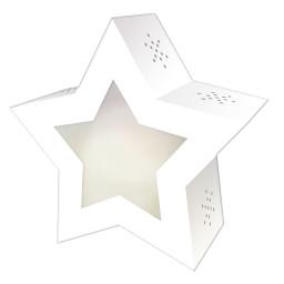 Laternen-Bastelset Twinkle Star, weiß