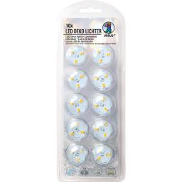 LED Deko Licht 10er Set warmweiß