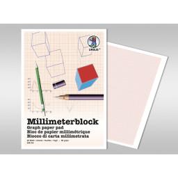 Millimeterblock 80 g/qm DIN A4 - 25 Blatt