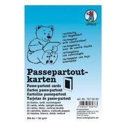 Passepartoutkarten quadratisch DIN A6 hochdoppelt weiß - 25 Stück