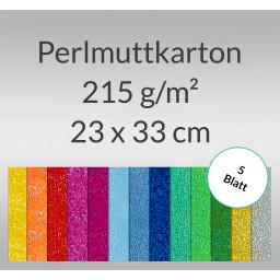 Pearlmuttkarton 23 x 33 cm - 5 Blatt