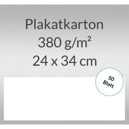 Plakatkarton 380 g/qm 24 x 34 cm weiß - 50 Blatt