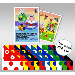 Pünktchen-Fotokarton 23 x 33 cm - 10 Blatt sortiert
