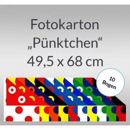 Pünktchen-Fotokarton 49,5 x 68 cm - 10 Bogen