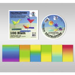 Regenbogen-Buntpapier-Faltblätter 115 g/qm 20 x 20 cm