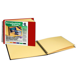 Scrapbooking-Album 23 x 31,5 cm - 25 chamois Seiten