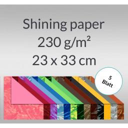 Shining paper 23 x 33 cm - 5 Blatt