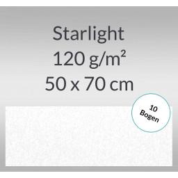 Starlight 120 g/qm 50 x 70 cm hochweiß - 10 Bogen