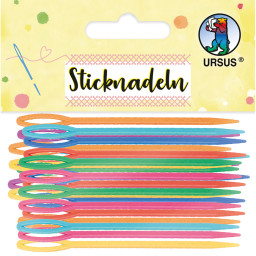 Sticknadeln aus Kunststoff, 32 Stück sortiert in 8 Farben