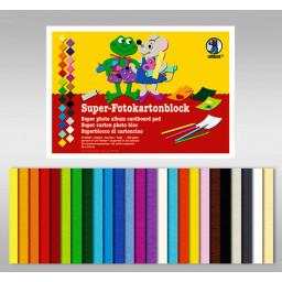 Super-Fotokartonblock 24 x 34 cm - 25 Blatt sortiert