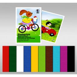 Tonkarton 220 g/qm 23 x 33 cm - 10 Blatt sortiert