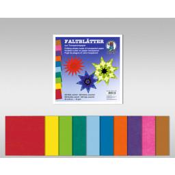 Transparentpapier-Faltblätter 42 g/qm 20 x 20 cm