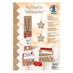 URSUS Kraftkarton Weihnachten 10 Stück DIN A4 Adventskalender