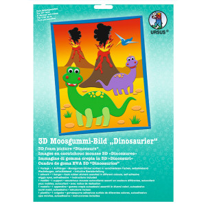 "3D-Moosgummi-Bild ""Dinosaurier"""
