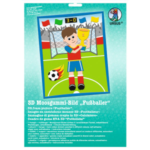 "3D-Moosgummi-Bild ""Fußballer"""