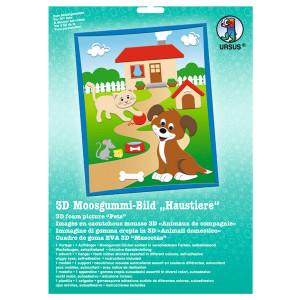 """3D-Moosgummi-Bild """"Haustiere"""""""