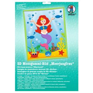 """3D-Moosgummi-Bild """"Meerjungfrau"""""""