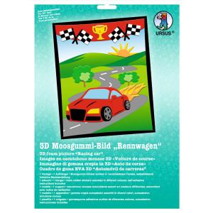 """3D-Moosgummi-Bild """"Rennwagen"""""""