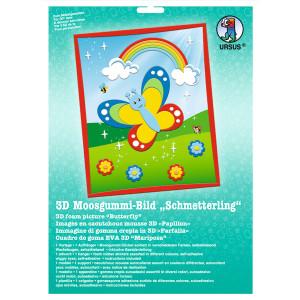 """3D-Moosgummi-Bild """"Schmetterling"""""""