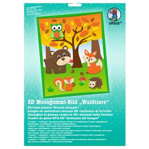"3D-Moosgummi-Bild ""Waldtiere"""