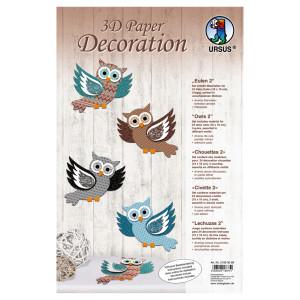 """3D Paper Decoration """"Eulen 2"""""""