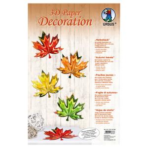 """3D Paper Decoration """"Herbstlaub"""""""