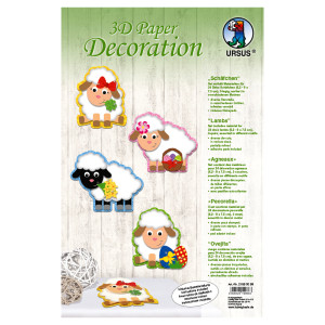 "3D Paper Decoration ""Schäfchen"""