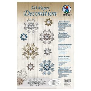 """3D Paper Decoration """"Schneeflocken"""""""
