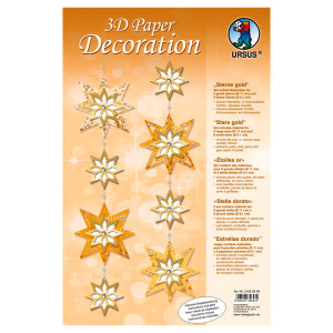 """3D Paper Decoration """"Sterne"""" gold"""