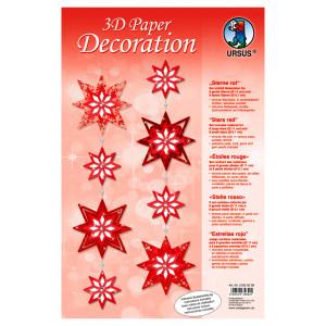 "3D Paper Decoration ""Sterne"" rot"