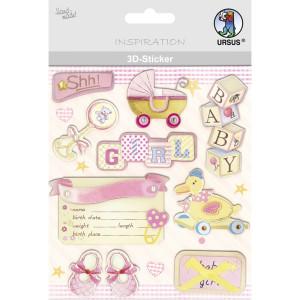 "3D-Sticker ""Baby"" Motiv 126"