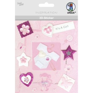 "3D-Sticker ""Baby"" Motiv 55"