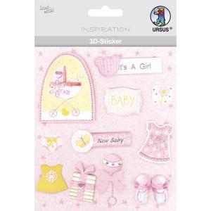 "3D-Sticker ""Baby"" Motiv 63"