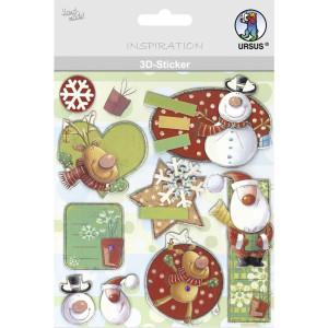 """3D-Sticker """"Weihnachten"""" Motiv 131"""