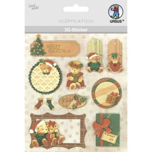 """3D-Sticker """"Weihnachten"""" Motiv 86"""
