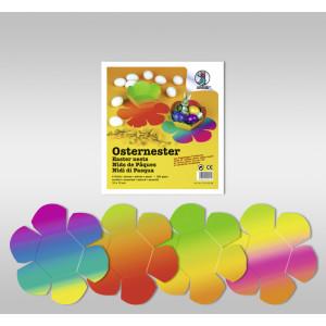 8 Osternester aus Regenbogen-Fotokarton