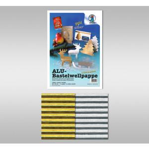 Alu-Bastelwellpappe 260 g/qm 23 x 33 cm - 5 Blatt sortiert