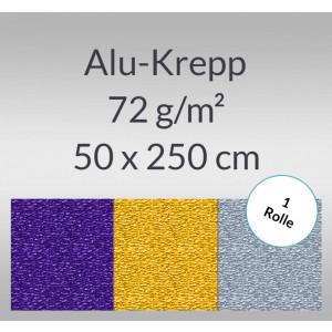 Alu-Krepp 72 g/qm 50 x 250 cm - 1 Rolle