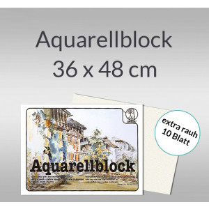 Aquarellblock extra rauh 250 g/qm 36 x 48 cm