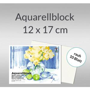 Aquarellblock rauh 200 g/qm 12 x 17 cm
